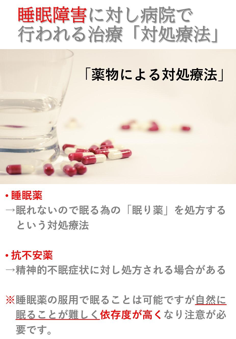 睡眠障害の西洋医学的治療「薬物療法」